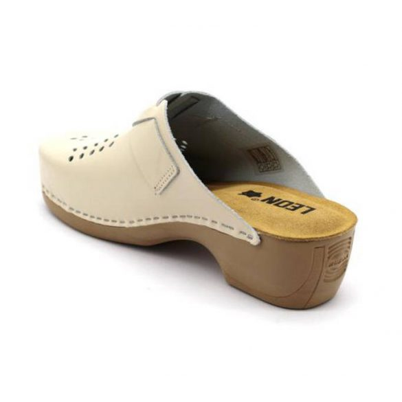 Leon Comfort női papucs - 161 bezs uj