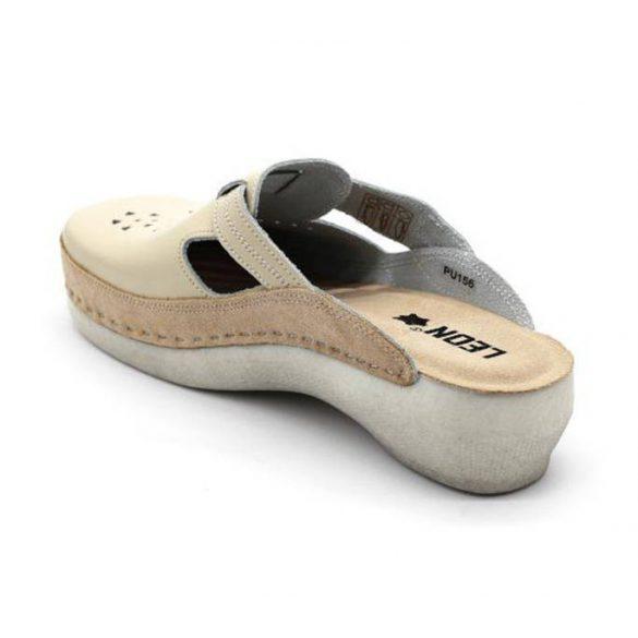 Leon Comfort női papucs - PU156 bezs