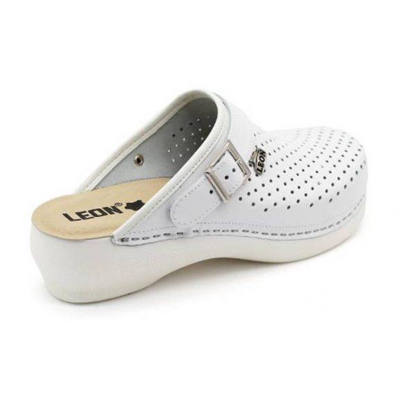 Leon Comfort női papucs - PU 101 Feher